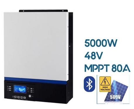Гибридно-сетевой инвертор Axpert VM III (PF-1.0)  5000VA/5000W/48V/MPPT 80A