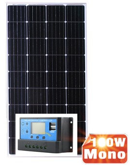 Монокристаллическая панель 150Вт (2 шт ) + 20А Контроллер заряда