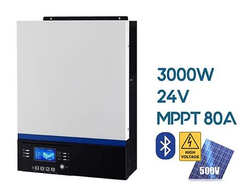 Гибридно-сетевой инвертор Axpert VM III (PF-1.0)  3000VA/3000W/24V/MPPT 80A
