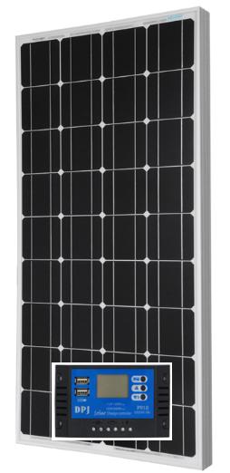 Монокристаллическая панель 100Вт + 20А Контроллер заряда