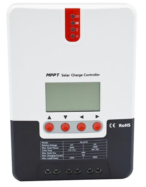 MPPT Контроллер заряда  SR-ML2440 40A, 12V/24V