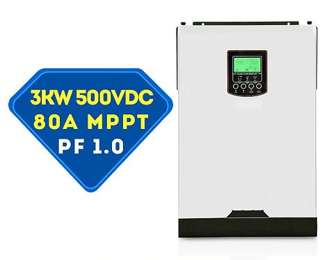 Гибридный инвертор MPS-VM3K    (PF-1.0) 3200VA/3200W/24V/ MPPT 80A/140A
