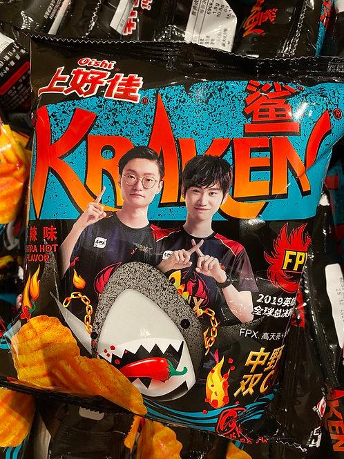 OS Kraken Potato Chips Extra Hot 上好佳波浪薯片火辣
