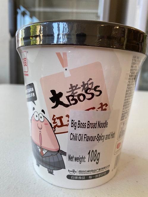 Big Boss Broad Noodle Chilli Oil Flav-Spicy & Hot 大Boss 红油面皮108g
