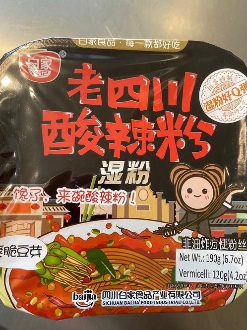 BJ Sichuan Hot & Sour Vermicelli 白家老四川酸辣湿粉盒装