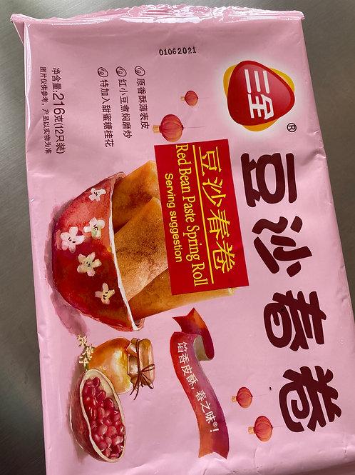 SQ Red Bean Paste Spring Roll 三全豆沙春卷