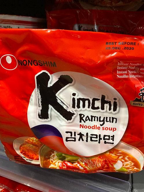Nongshim Kimchi Noodle 5pcs