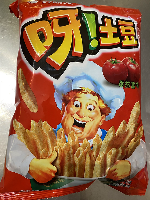 HLY Potato Chips Tomato Sauce Flav 呀!土豆番茄酱味70g