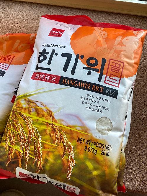Wang Korea Hangawee Rice 韓佳味米 20LB