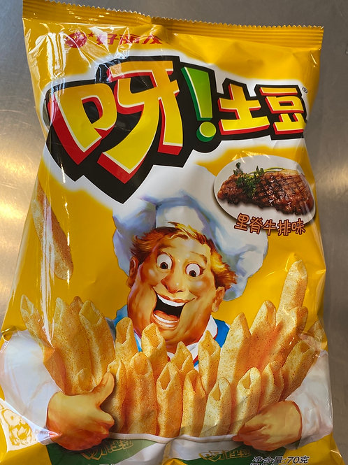 HYL Potato Chips Steak Flav 好丽友里脊牛排味