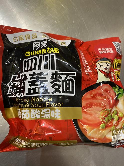 BJ Broad Noodle Tomato Flav 白家四川铺盖面番茄味