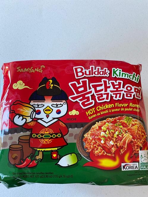 Samyang Buldak Kimchi Hot Chicken Flav 135gx5pcs