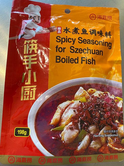 HDL Spicy Seasoning For Szechuan Boil Fish 海底捞水煮鱼调料