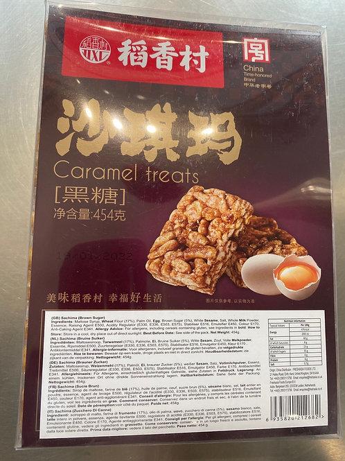 DXC Caramel Sachima Brown Sugar Flav 454g稻香村沙琪玛