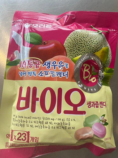 Orion Bio Candy Fruit Flav 韩国好丽友水果夹心奶糖