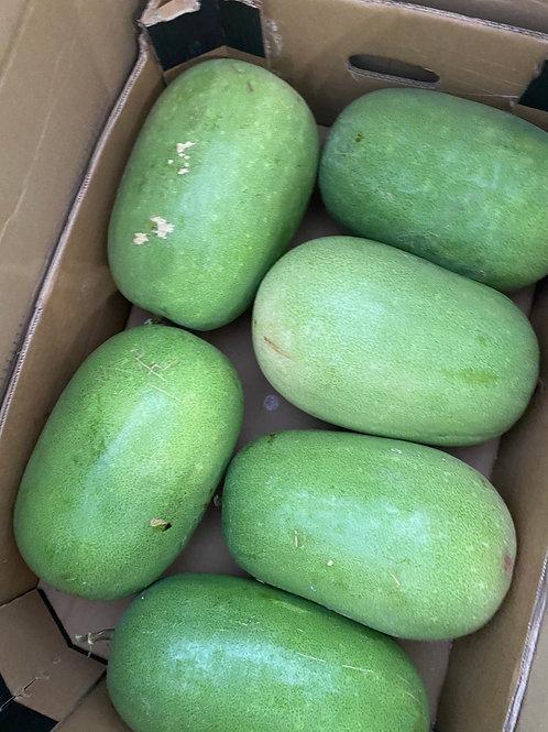 Green Skin Winter Melon 青皮冬瓜 Sliced 1000g-1200g
