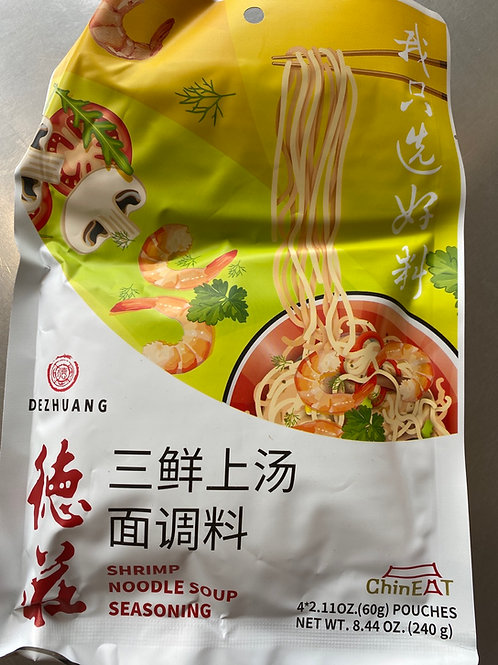 Dezhuang Shrimp Noodle Soup Seasoning 德庄三鲜上汤面调料240g