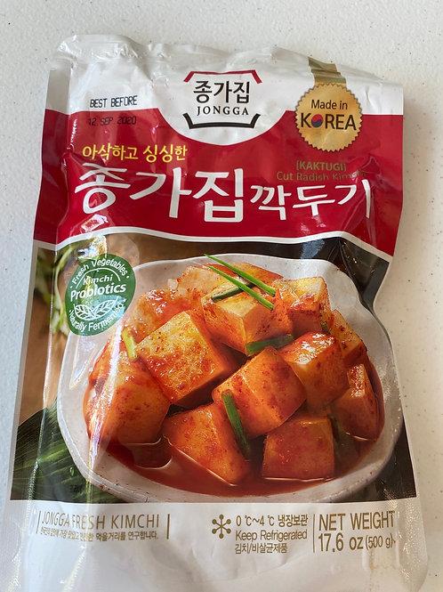 Jongga Cut Radish Kimchi 500g