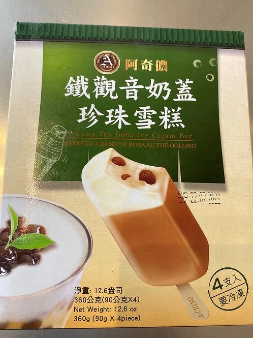 Oolong Tea Babo Ice Cream Bar 铁观音奶盖珍珠雪糕
