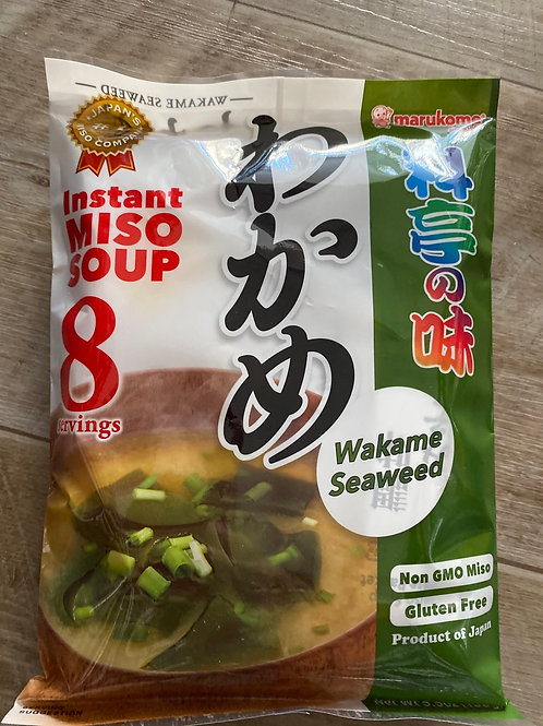 Japanese Instant Miso Soup With Seaweed