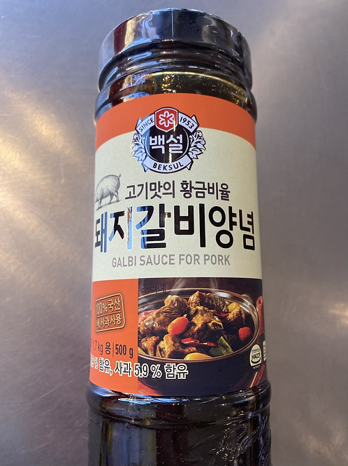 Beksul Galbi Sauce For Pork 500g 韩国烤肉酱