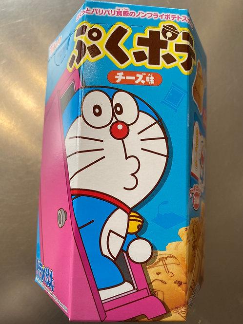 Tohato Doraemon Cheese Flav Potato Puff Snack With A Sticker 20g