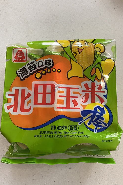 Peitien Corn Roll Japanese Seaweed 北田玉米棒海苔