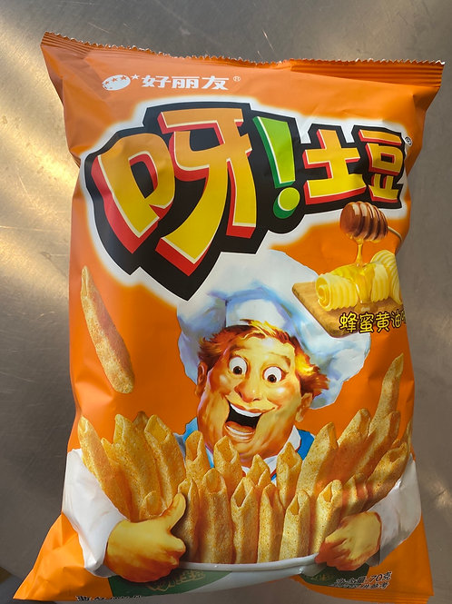 HLY Potato Chips Honey Flav 好丽友蜂蜜黄油味