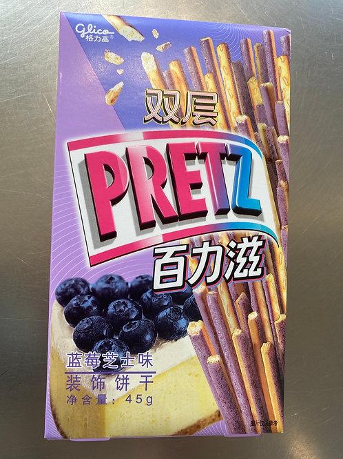 Double Pretz Blueberry Cheese Cake Flav 百力滋蓝莓芝士味45g