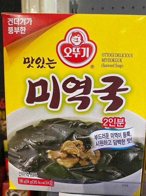 Korean Instant Seaweed Soup