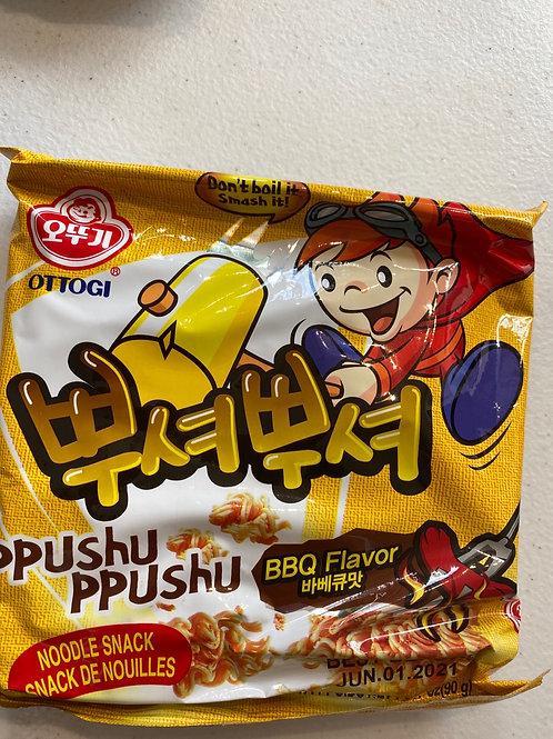 Ottogi Korean Noodle Snack  BBQ Flav 韩国干脆面烧烤味