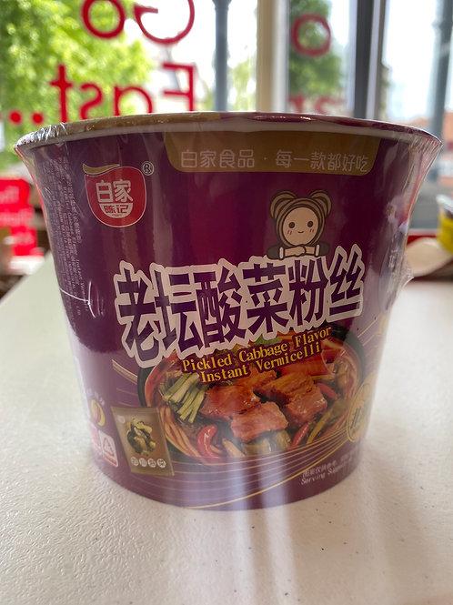 BJ Pickled Cabbage Flav Instant Vermicelli 老坛酸菜粉丝