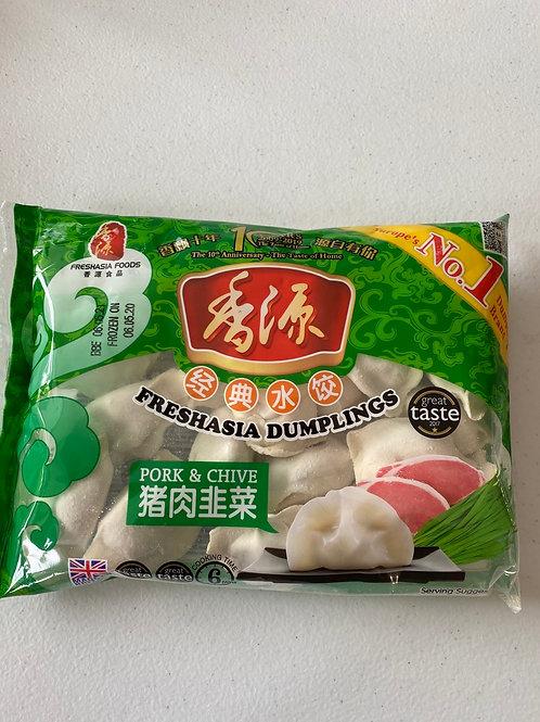 Freshasia Pork and Chives Dumpling 猪肉韭菜饺子