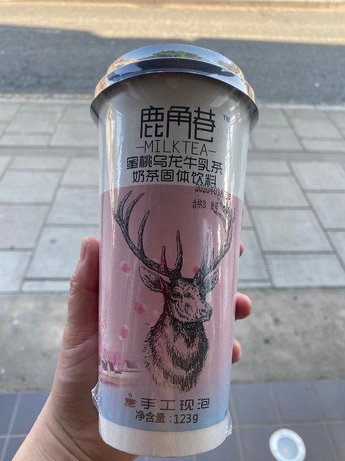 LJX Peach Oolong Milk Tea 鹿角港蜜桃乌龙奶茶