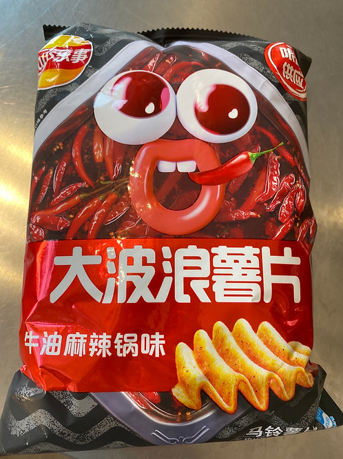 LB Big Wave Potato Chip Spicy Butter Flav 大波浪牛油麻辣锅味