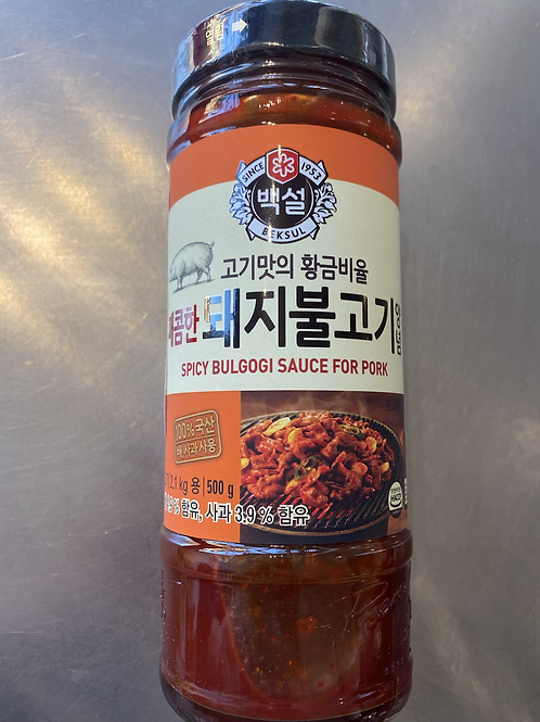 Beksul Spicy Bulgogi Sauce For Pork 韩国烤肉腌酱
