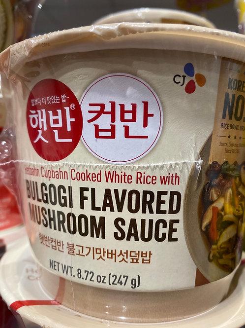 Bulgogi Flav Mushroom Sauce With Cooked Rice