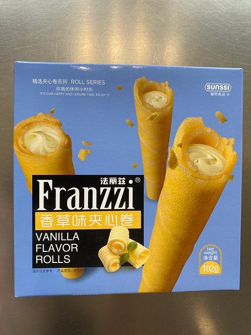 Franzzi Vanilla Flav Rolls 102g 法丽滋香草味夹心卷