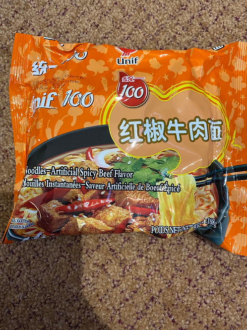 Unif 100 Instant Noodles Spicy Beed Flavour