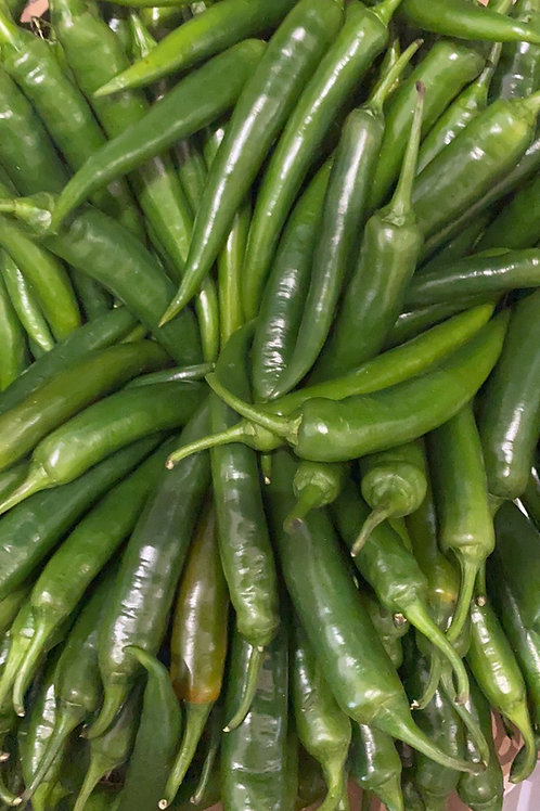 Green Long Chilli 10pcs