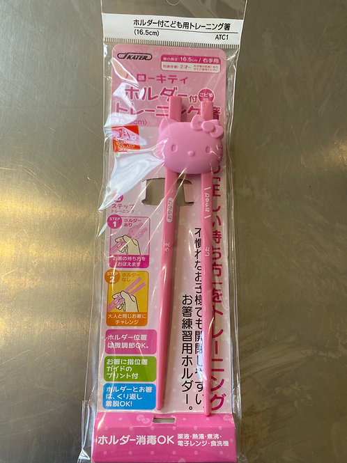 Hello Kitty Training Chopstick With Holder For Kids
