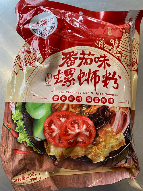 LuoBaWang Tomato Flav Luo Shi Rice Noodles 螺霸王番茄味螺狮粉306g