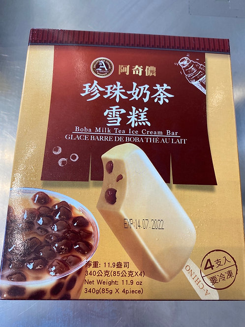 Boba Milk Tea Ice Cream Bar 啊奇侬珍珠奶茶雪糕
