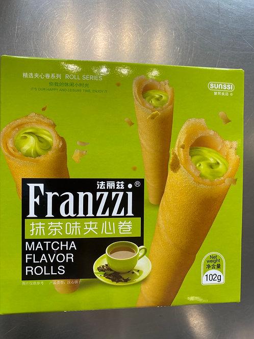 Franzzi Matcha Flav Rolls 法丽滋抹茶夹心卷102g