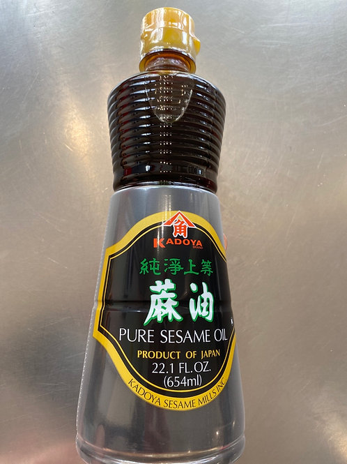 Kadoya Pure Sesame 654ml 日本纯净上等麻油