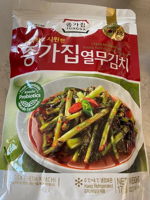Jongga Young Radish Leaves Kimchi