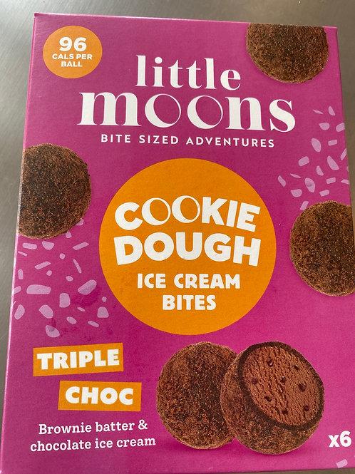 Little Moon Triple Choco Cookie Dough Ice Cream Bites 小月亮冰淇淋餅乾球6x32g