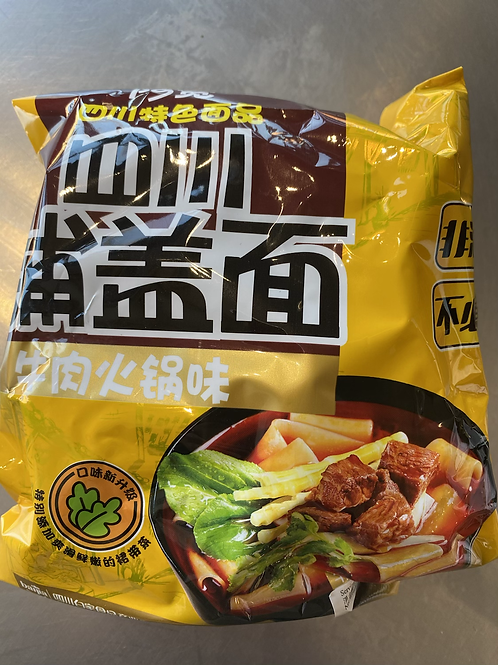 BJ Sichuan Broad Noodle Beef Flav 四川铺盖面