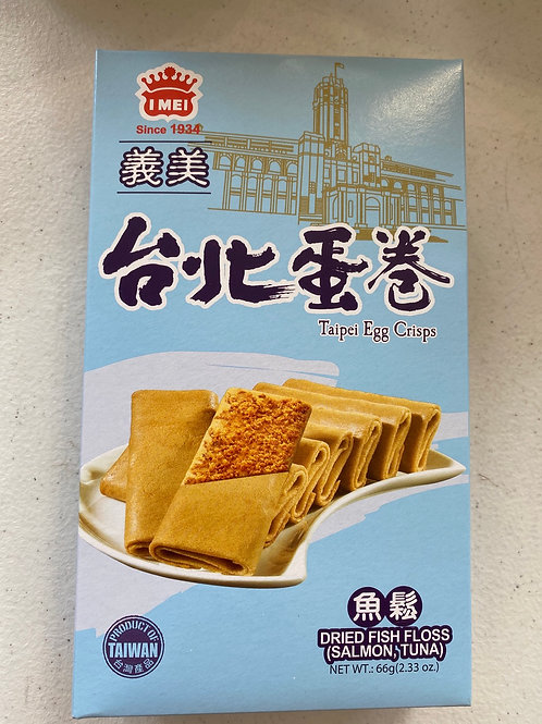 IM Taipei Egg Crips Fish Floss 義美台北蛋捲魚鬆味