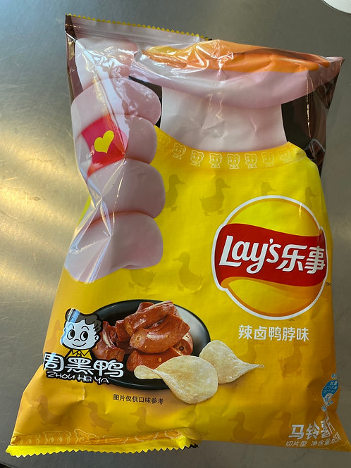 Lay's Potato Chips Spicy Duck Neck Flav 乐事周黑鸭脖味